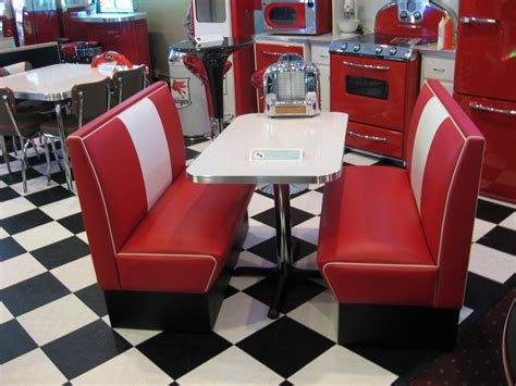 table a diner diner booth sets home kitchen retro deco cornerbooths