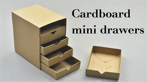 How To Make Cardboard Drawers by Diy Cardboard Mini Drawers Tutorial Funnycat Tv