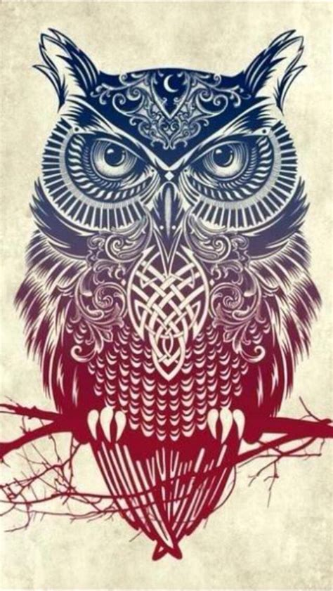 owl tattoo background owl iphone wallpaper background ilustraciones
