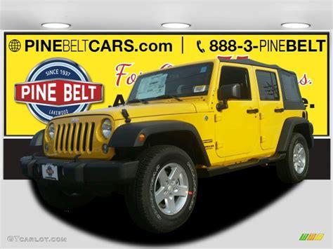 baja jeep wrangler 2015 baja yellow jeep wrangler unlimited sport s 4x4