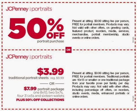 jcpenney portrait coupons printable 7 99 jcpenney printable coupons may 2015
