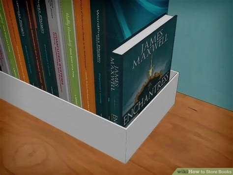 3 ways to store books wikihow