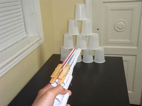 How To Make A Pistol Out Of Paper - projects and crafts for boys a rubber band gun out