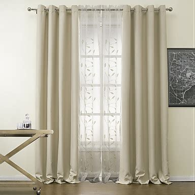 two color curtain panels two panels curtain modern polyester material blackout