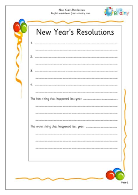 new year key stage 1 new year s resolutions 2 worksheet for key stage 1