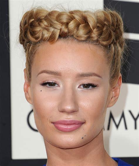 hair styles for the ball iggy azalea long straight formal braided updo hairstyle
