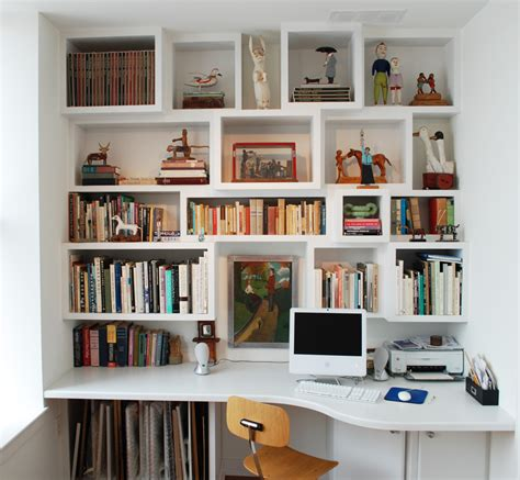Shelving With Desk by Custom Cabinetry