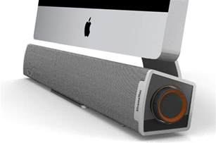 Imac Desk xtrememac tango bar speaker compliments the imac to a t