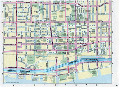 printable map toronto downtown large detailed tourist map of downtown of toronto city
