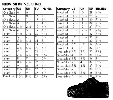 shoe size chart quechua kids shoes international conversion chart shoes