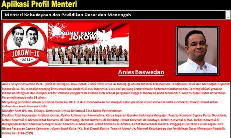 profil jokowi jk aplikasi profil menteri jokowi jk untuk pendidikan