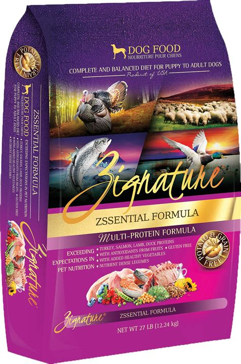 zignature puppy food zignature zssential multi protein formula grain free food 27 lb bag chewy