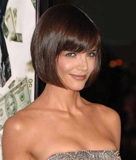 how to cut a katie holmes bob katie holmes bob haircut popsugar beauty