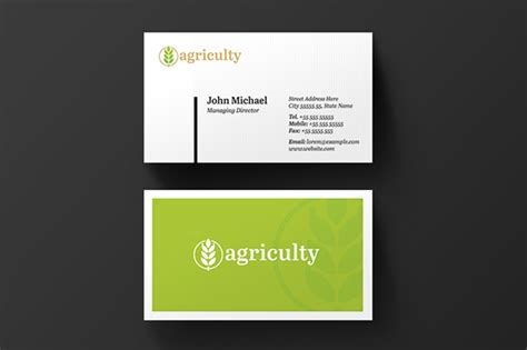 Agriculture Business Cards Templates Free by Farm House Agriculture Business Card Free Pixelify