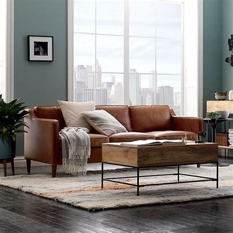 elm hamilton leather sofa hamilton leather sofa elm a house