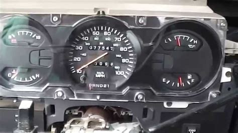 1992 dodge speedometer stopped working how to test it youtube