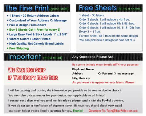 sle return address label return address labels free shipping 100 images