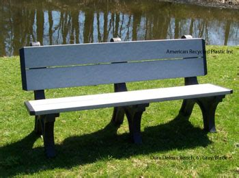 dura bench plastic bench at american recycled plastic dura deluxe