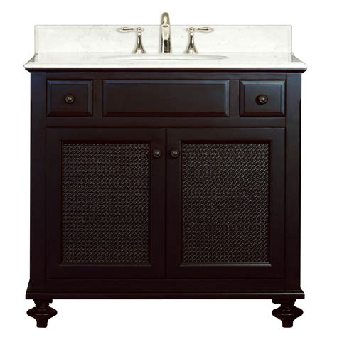 water creation traditional 36 single sink bathroom vanity