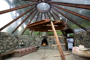 glass roof house glass domed greenhouse hut in big sur california by