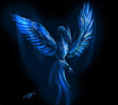 wallpaper blue phoenix blue phoenix by thegreatandmightyoz on deviantart