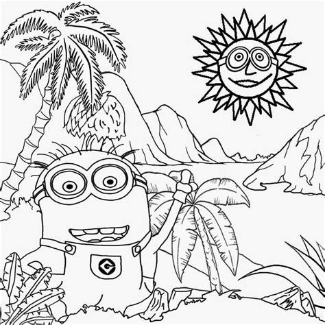 minions free printable activities and purple evil minion coloring pages images