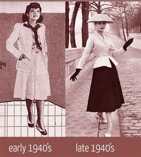 latest fashiont trand for ladies late 40 1940 s fashion womens dress style after the war