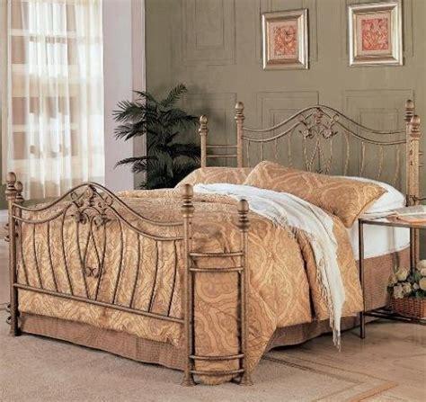 coaster fine furniture  metal bed headboard  footboard queen gold finish