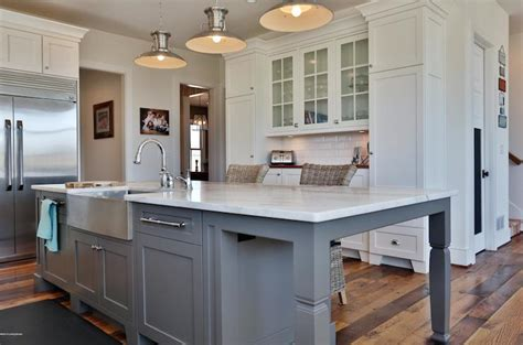paint colors for kitchen island gorgeous white and gray kitchen with shaker perimeter