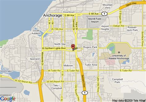 anchorage map map of embassy suites anchorage anchorage