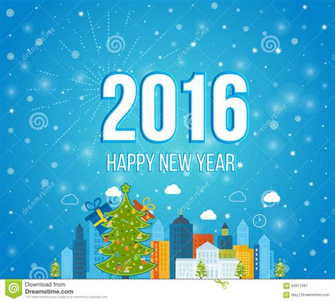 creative happy new year 2016 happy new year 2016 creative greeting card design stock