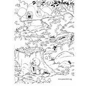 The Smurfs  Brainy Smurf Playing Hide And Seek Coloring Page