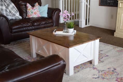 build  farmhouse coffee table  storage