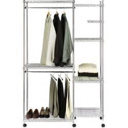 closet shelves walmart seville closet organizer with cover chrome walmart