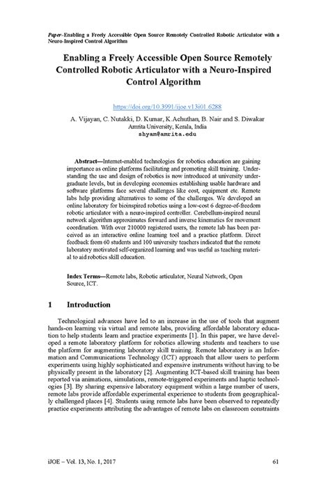 research paper on robotics amrita lab research paper connects robots and