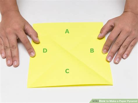 How To Make A Triangle Out Of Paper - how to make a paper pyramid 15 steps with pictures