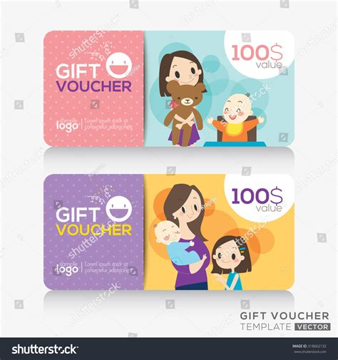 gift card design template store coupon voucher or gift card design template