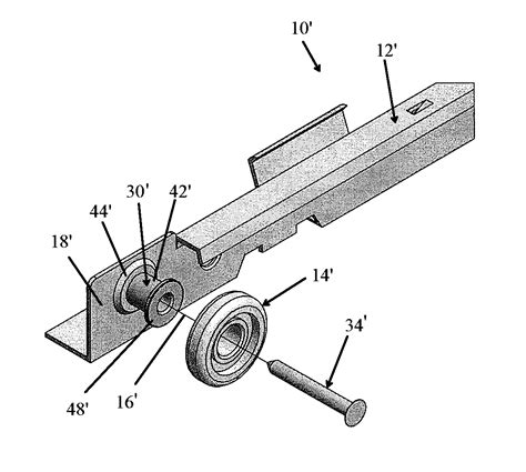 Drawer Mechanism by Patent Us20120319549 Roller Mount For Drawer Glide