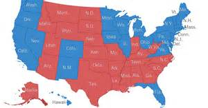 Map Of Blue And Red States by Red States Blue States Does This Map Look Familiar