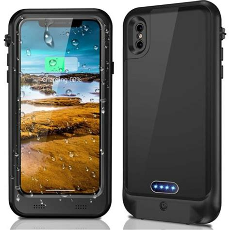 R Iphone X Waterproof Waterproof Power Bank External Charger For Iphone X 8 6s Plus Battery Cover Ebay
