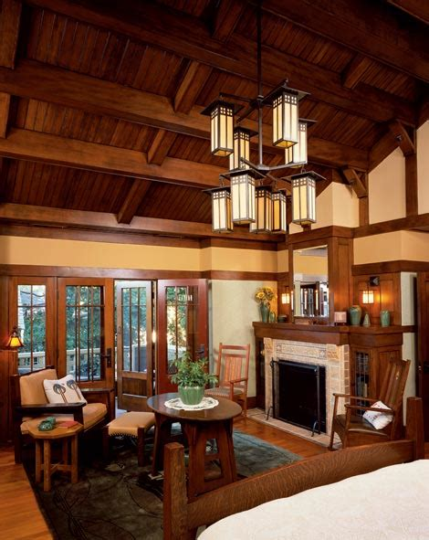 Arts And Crafts Home Interiors Doors Let In The Light Craftsman Log Cabins And