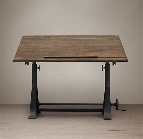 restoration hardware drafting table restoration hardware 1910 american trestle drafting table shopstyle home