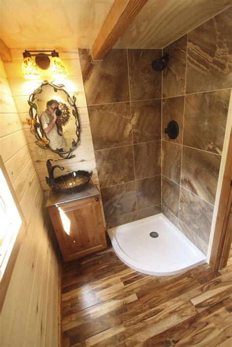 tiny house bathtub simblissity tiny homes stone cottage