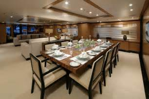 Amnesia s formal dining room superyachts news luxury yachts
