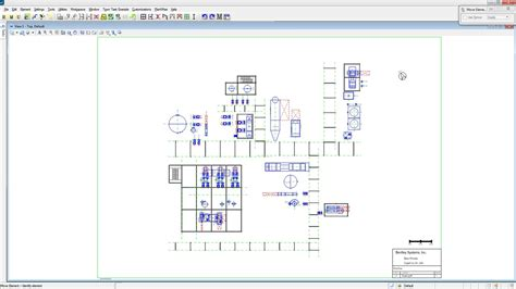 layout drawing process 3d process plant design software bentley plantwise