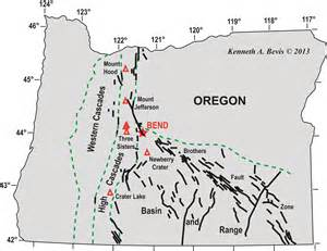oregon fault lines map geology of the central oregon cascades in the playground