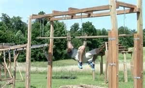 backyard ninja warrior plans unstable bridge had to elevate it because the original