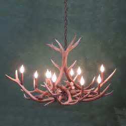 small oval elk antler chandelier