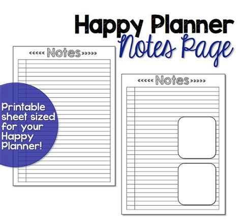 free printable happy planner inserts happy planner note paper happy planner printable insert