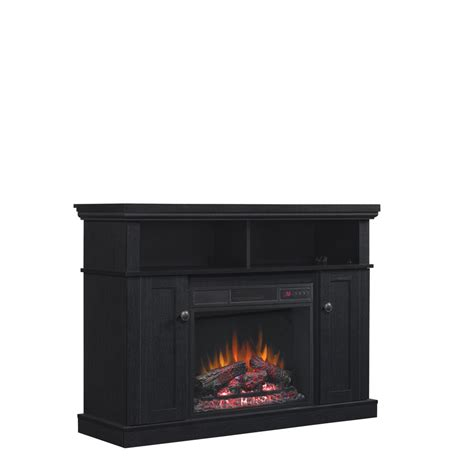 Lowes Corner Fireplace by Shop Style Selections 46 25 In W 4 600 Btu Black Wood